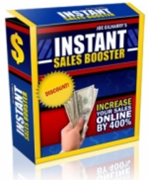 Product picture Instant Sales Booster - RR