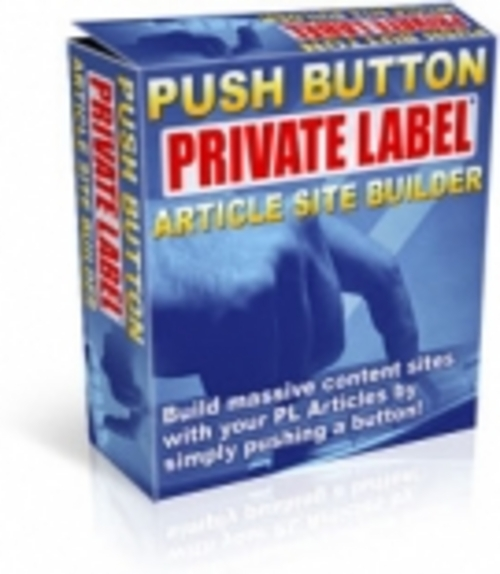 Product picture Push Button Private Label Article Site Builder - PRL